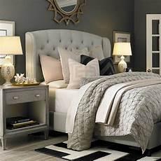 Bedroom Ideas Grey Headboard by Grey Nightstand Transitional Bedroom