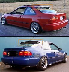 honda civic ej1 1992 95 5th honda civic coupe ej1 ej2 jdm smoke rear
