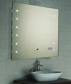 Led Spiegel Badspiegel Wandspiegel Uhr Sensor 45x60 Oder