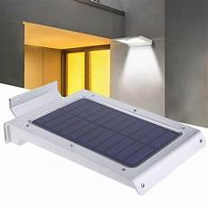 46 led solar motion sensor ip65 waterproof garden path wall emergency light wall lights