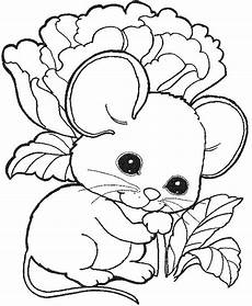 Mewarnai Gambar Sederhana Untuk Anak Tk Kartun Tikus Lucu