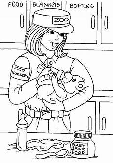 zoo keeper coloring page zoo coloring pages coloring