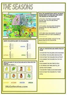 worksheets in seasons 14812 the seasons английский