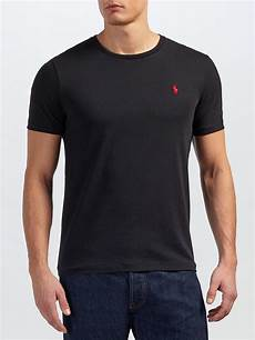 polo ralph cotton basic custom fit t shirt in black