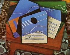Synthetischer Kubismus Picasso - juan gris gitarre auf einem tisch 1915 kubismus
