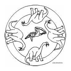 sammlung dinosaurier mandala viele unterschiedliche
