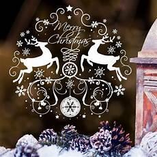 wandtattoo fensterbild elche weihnachten etsy