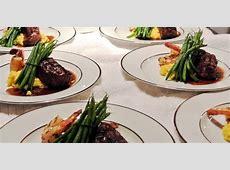 wedding reception food: Duo Entree with Succulent Shrimp