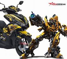 Aerox Kuning Modif by Modifikasi Striping Yamaha Aerox Yellow Transformer