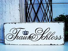 shabby vintage holz schild traumschloss homestyle