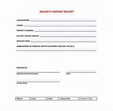 check deposit receipt template security deposit receipt receipt template doc for word