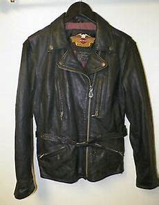Used Harley Davidson Leather Jackets by S Harley Davidson Black Leather Zip Front Motorcycle