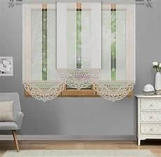 gardinen de 3er set gardinen panel grau gardinenset azur neu ebay
