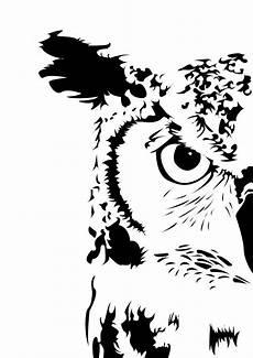 Eulen Malvorlagen Instagram Silhouettestencil In 2020 Eule Schablone Vogel Stempel