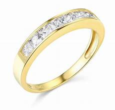 1 50 ct princess real 14k yellow gold engagement wedding anniversary band ring ebay