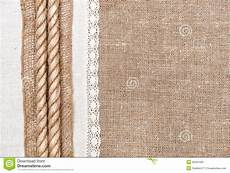 fond de toile de jute avec le tissu de toile et la corde