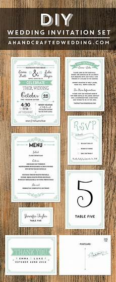 mint diy wedding invitation wedding invitations