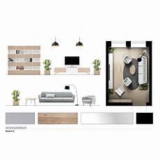 farbvarianten wohnzimmer 2 d ansichten modernearchitektur