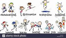Doodles Different Kinds Of Sports Stock Vector