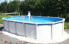 Stahlwandpool Oval Freistehend - pool stahlwand oval freistehend schwimmbad und saunen