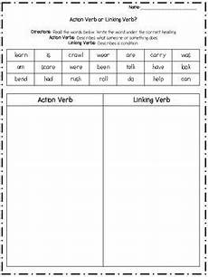 action and linking verb sort miss s posse linking verbs action verbs verb worksheets