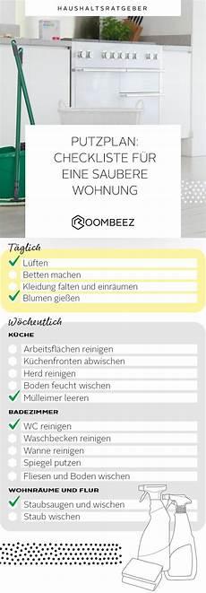 Putzplan 187 Checkliste F 252 R Eine Saubere Wohnung Saubere