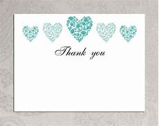 thank you cards template wedding back items similar to thank you card template trio of hearts
