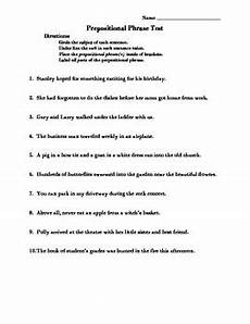 prepositional phrase worksheet with answers worksheet list