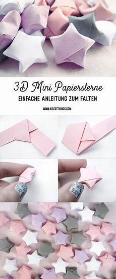 Diy 3d Papiersterne Falten Anleitung F 252 R Origami Sterne Diy