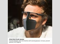 Anti spitting Anti fog Breathable Face Cover Mouth Plastic
