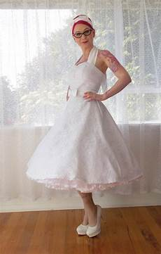 1950s Rockabilly Wedding Dress Clarissa With Lace