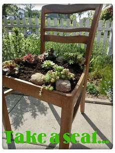 Deko Stuhl Garten - bepflanzter stuhl garten take a seat ladder decor und