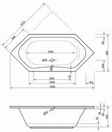 Sechseck Badewanne 180x80 - sechseckbadewanne 180 x 80 x 44 5 cm badewanne badewanne
