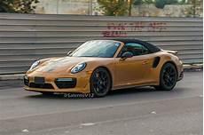 Porsche 911 Turbo S Exclusive Series Cabriolet Spied