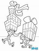Elves Distributing Gifts Coloring Pages  Hellokidscom