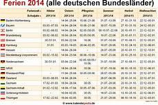 Faschingsferien Baden Württemberg 2017 - ferien 2014 in deutschland alle bundesl 228 nder