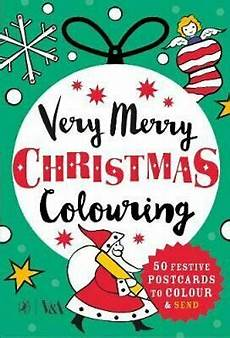 very merry christmas colouring 50 festive postcards to colour and send by none 9780241356067 ebay