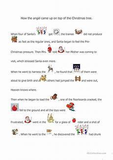 a christmas story worksheet free esl printable worksheets made by teachers
