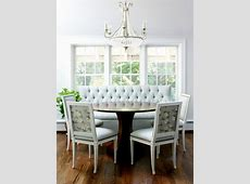 Design Manifest Breakfast room with banquette and pattern