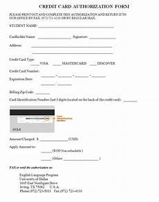 credit card authorization form template credit card design lettering types of credit cards