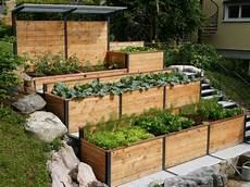 hochbeet raised garden beds sloped garden hillside garden