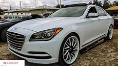 cocaine white hyundai genesis on lexani forged in hd must see youtube