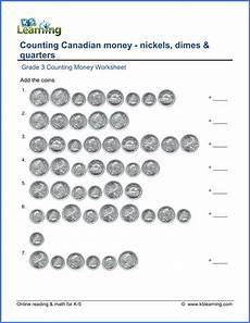 grade 3 math worksheets money canadian word problems 2529 grade 3 math worksheet canadian money nickels dimes and quarters k5 learning