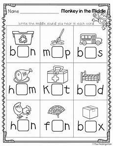 cvc practice middle sounds worksheet kindergarten language kindergarten language arts