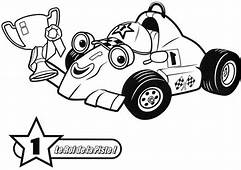 Number One Trophy Roary The Racing Car Coloring Pages