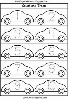 worksheets on vehicles 15217 cars number tracing 1 10 fichas preescolar tema transporte rastreo de n 250 mero