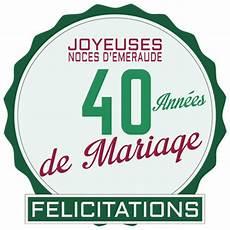 40 Ans De Mariage Noces D 201 Meraude Symbole Id 233 Es