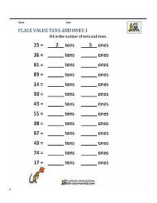 math place value worksheets to 100