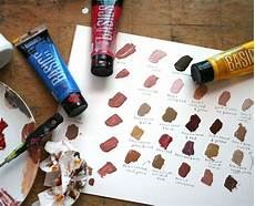 mixing acrylic paint colors skin tones how to paint skin tones step by step