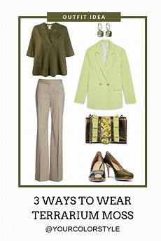 3 ways to wear terrarium moss soft autumn color palette